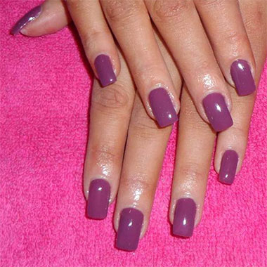 Gel nails extensions pink