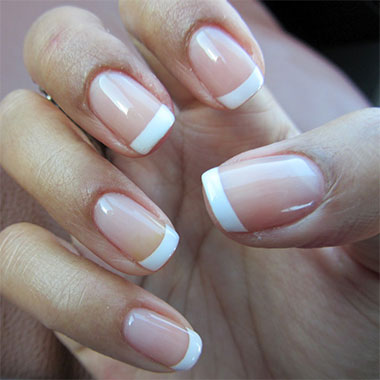 Gel nails french example